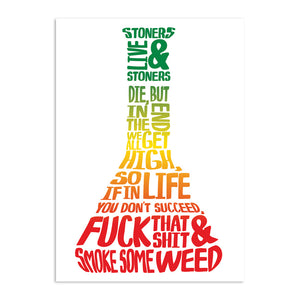 Stoner Daze Greeting Card Stoner Poem