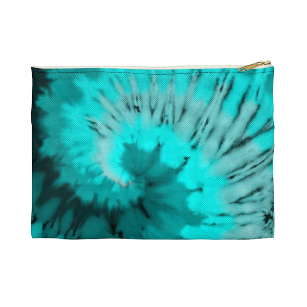 Blue Coral Tie Dye - Accessory Pouch - JaCiana Clothing Co.