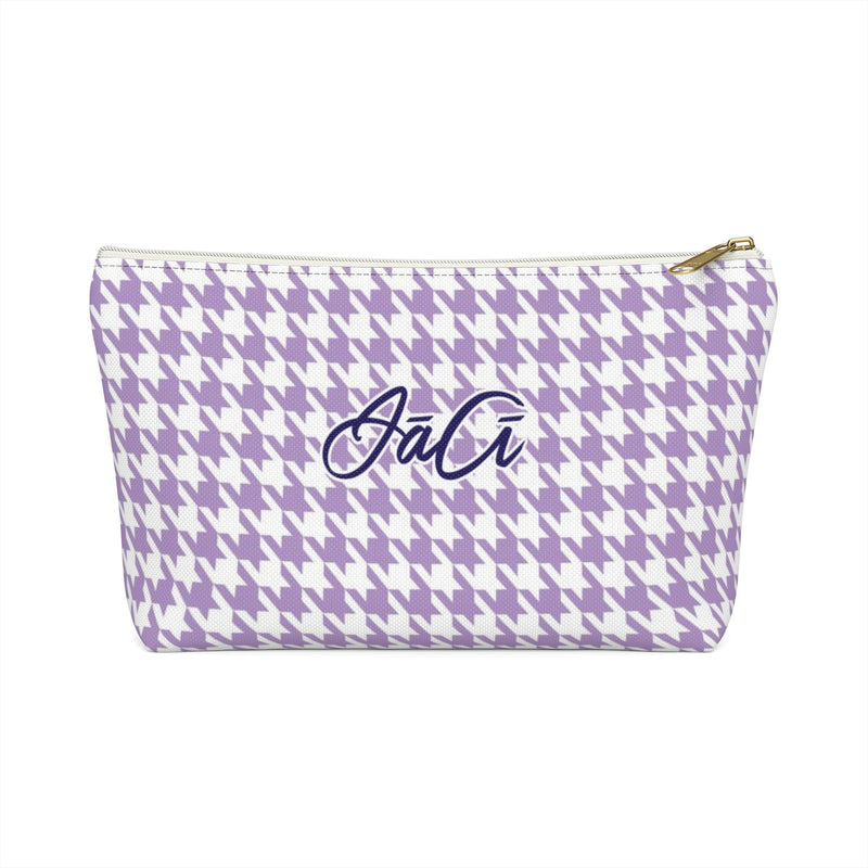 Purple Houndstooth - Accessory Pouch With T-bottom - JaCiana Clothing Co. - Superior Digital Outlet Mall