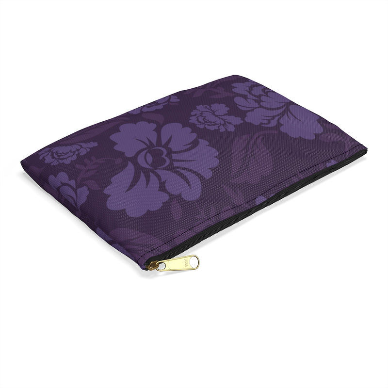 Purple Flowers - Accessory Pouch - JaCiana Clothing Co.