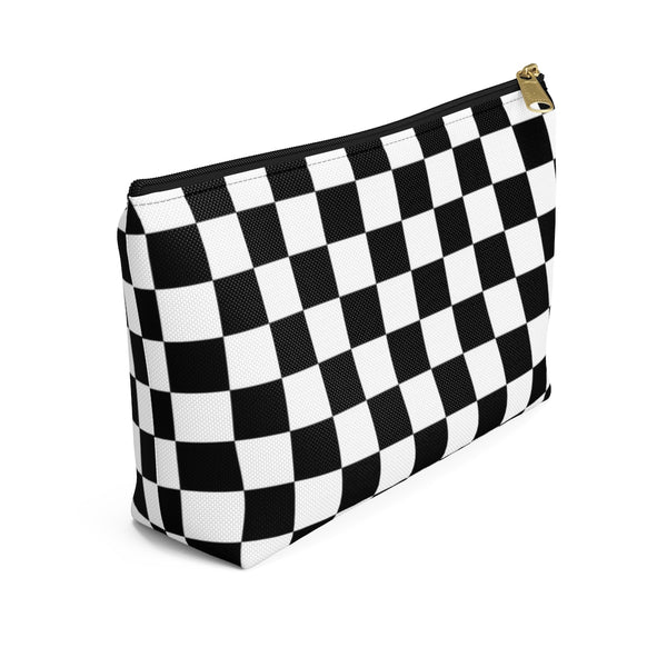 Checkerboard - Accessory Pouch With T-bottom - JaCiana Clothing Co. - Superior Digital Outlet Mall