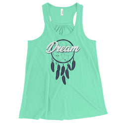 Dream - Women's Flowy Racerback Tank - JaCiana Clothing Co. - Superior Digital Outlet Mall