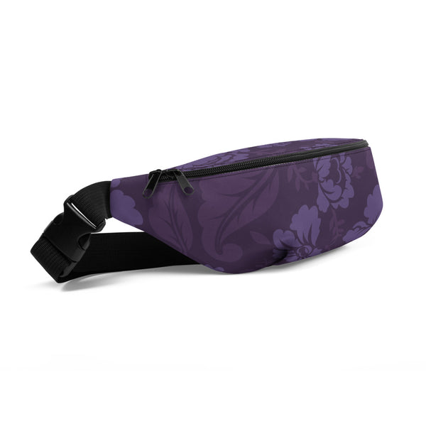 Purple Flowers - Fanny Pack / Shoulder Bag - JaCiana Clothing Co. - Superior Digital Outlet Mall