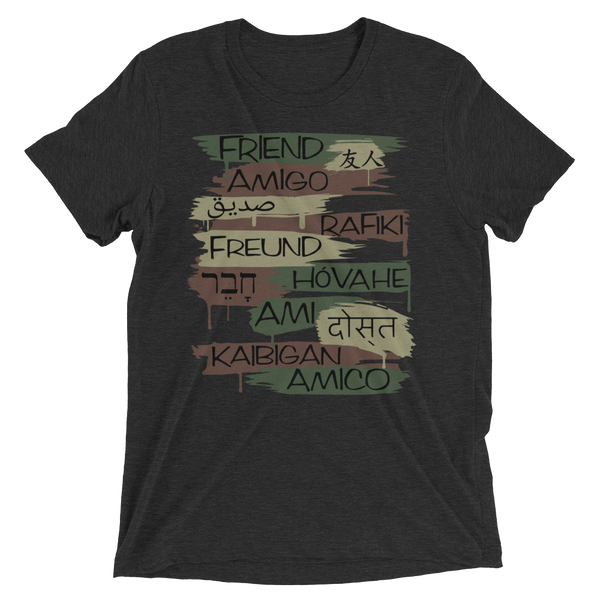 Friends From Other Ends - ADULT UNISEX  Tri-Blend T-Shirt - Camo