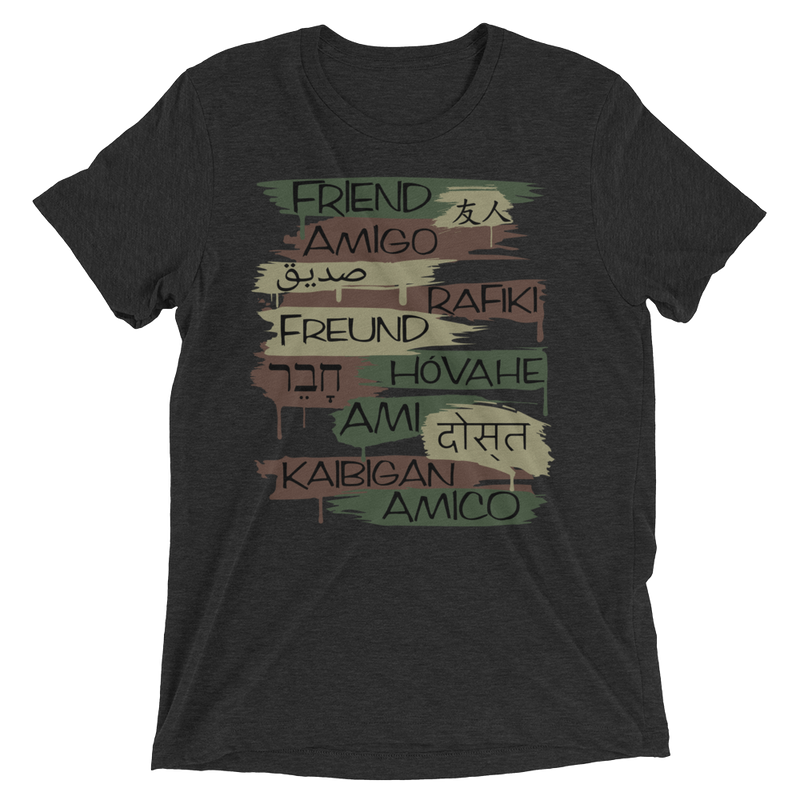 Friends From Other Ends - Tri-Blend T-Shirt - Camo