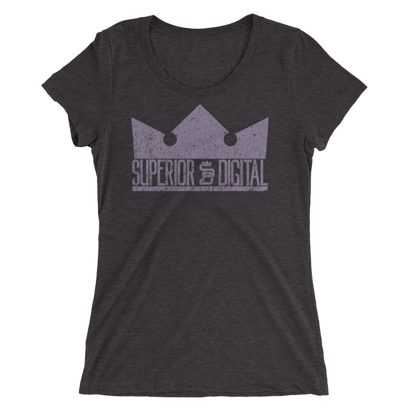 "Superior Digital Womens ""The Crown"" Tri-Blend T-Shirt - Purple - 6 Colors - Superior Digital Outlet Mall"