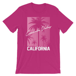 Coachella Valley - Womens Cotton T-Shirt - Pink - Superior Digital Outlet Mall