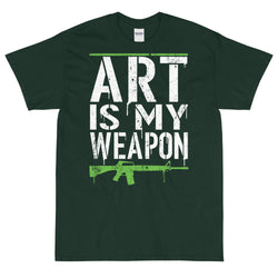 Art Is My Weapon (Green) - Unisex T-Shirt