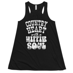 Country Heart With A Hippie Soul - Women's Premium Flowy Racerback Tank