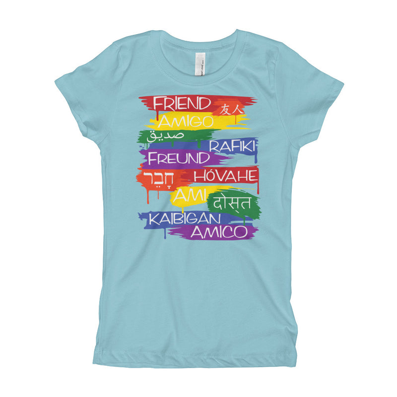 Friends From Other Ends - Girls T-Shirt - Rainbow