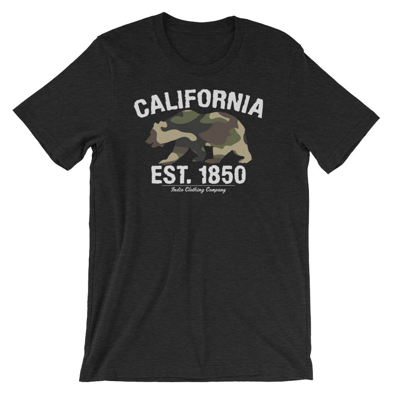 California Flag Camo Bear Short-Sleeve Unisex T-Shirt - Superior Digital Outlet Mall