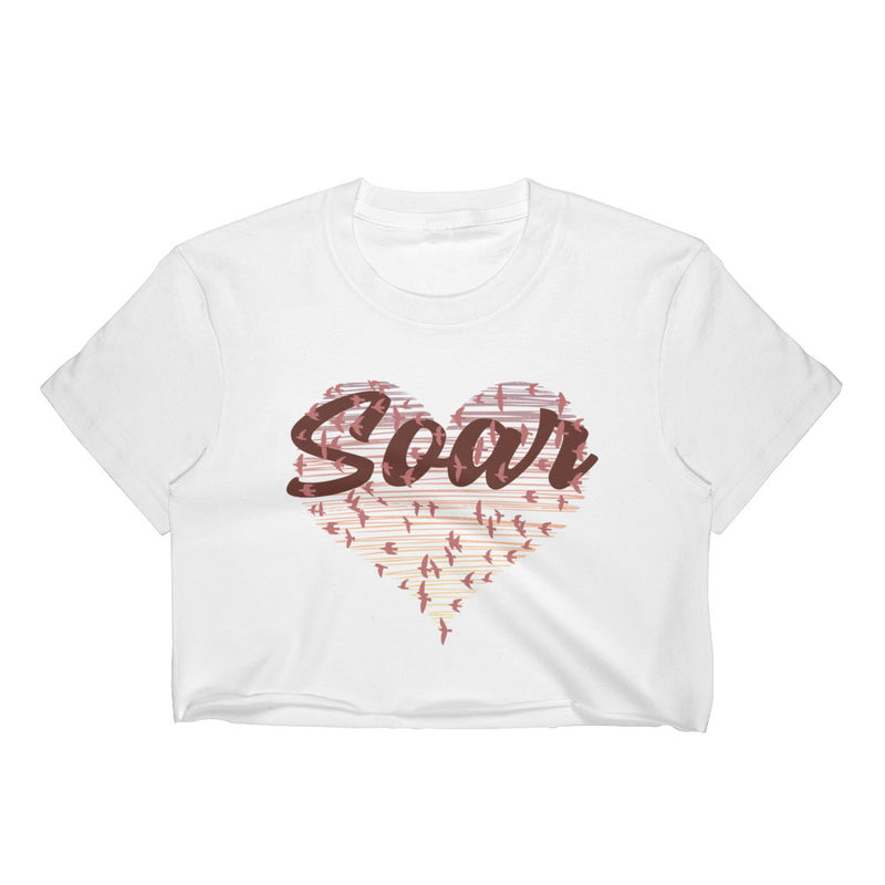 Soar - Junior Cropped T-Shirt - JaCiana Clothing Co. - Superior Digital Outlet Mall