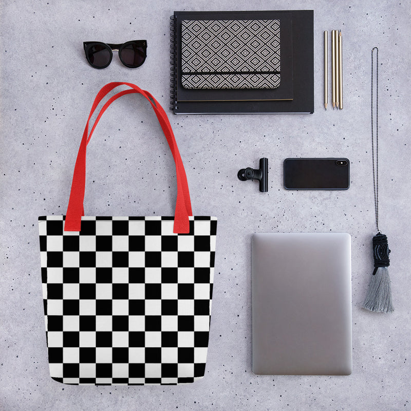Checkerboard - Tote Bag - JaCiana Clothing Co. - Superior Digital Outlet Mall