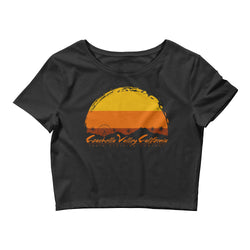 Coachella Valley, CA - Women's Crop Tee - Superior Digital Outlet Mall
