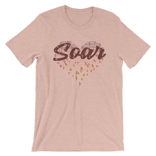 Soar (Heart Flock) - Womens T-Shirt - JaCiana Clothing Co. - Superior Digital Outlet Mall