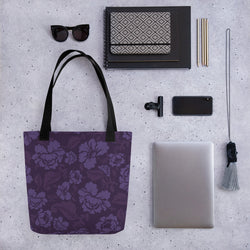 Purple Flowers - Tote Bag - JaCiana Clothing Co. - Superior Digital Outlet Mall