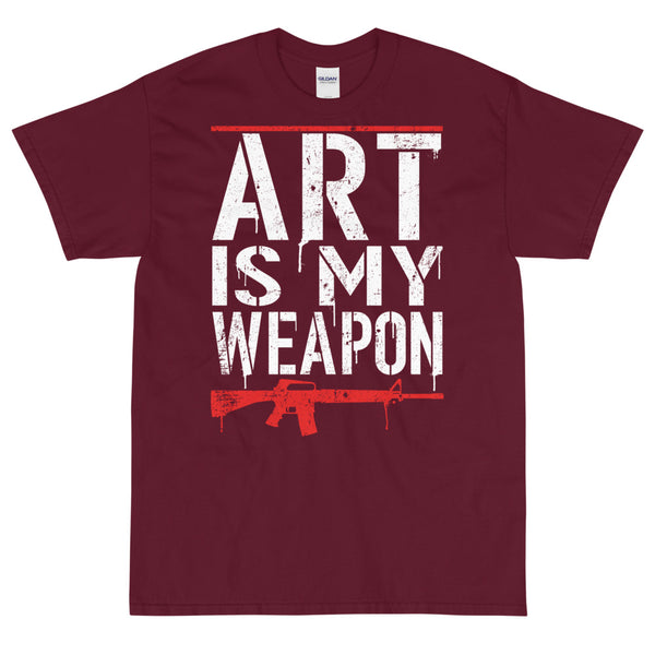 Art Is My Weapon (Red) - Unisex T-Shirt