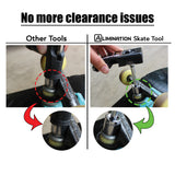 Alimination Skate Tool + Video Phone Mount & Tripod Stand Accessories [Complete Pack]