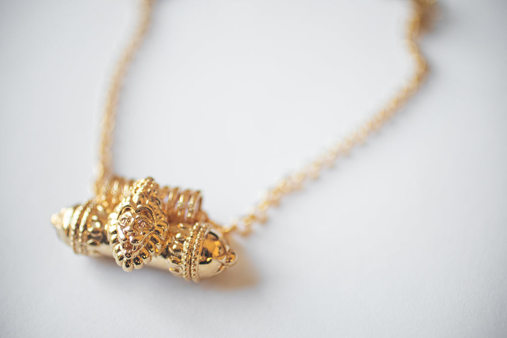 LION – Kavacha Amulet - 18K Gold Plated