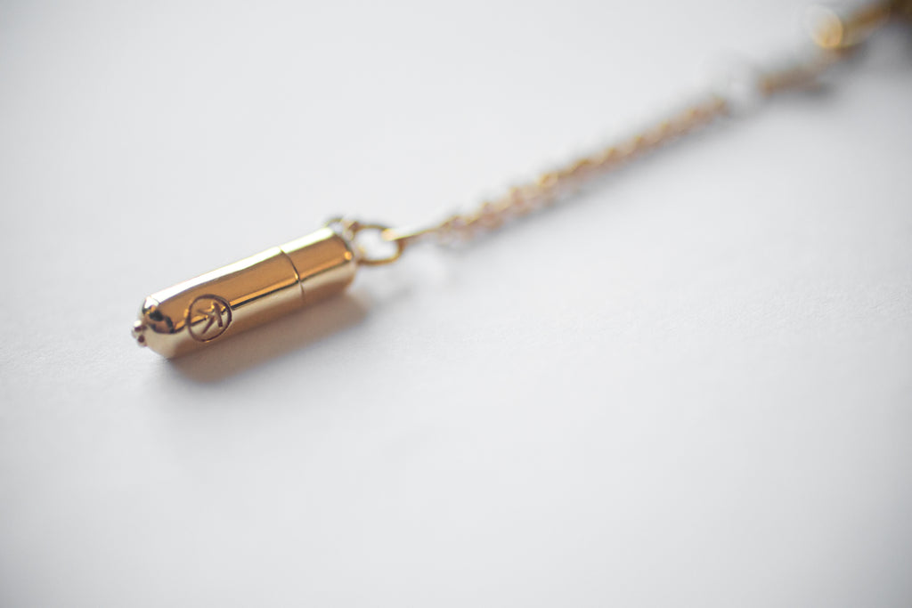 SMALL CAPSULE – Kavacha Amulet- 18K Gold Plated