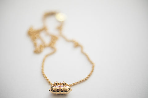 SMALL THREE RING GOLD KAVACHA AMULET