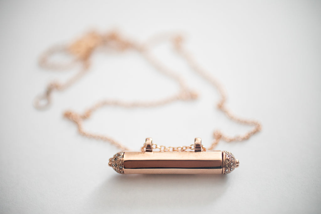 SMALL HEX - Kavacha Amulet - 18K Rose Gold