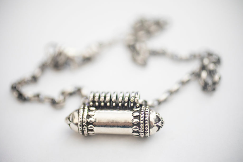 ANTIQUE STYLE – Kavacha Amulet - Sterling Silver