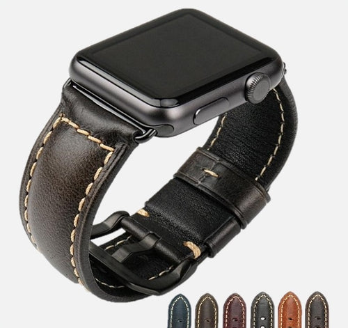 Casual Genuine Leather Apple Watch Band