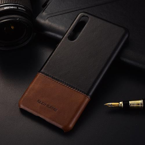 Genuine Stitched Leather Case for Huawei Phones
