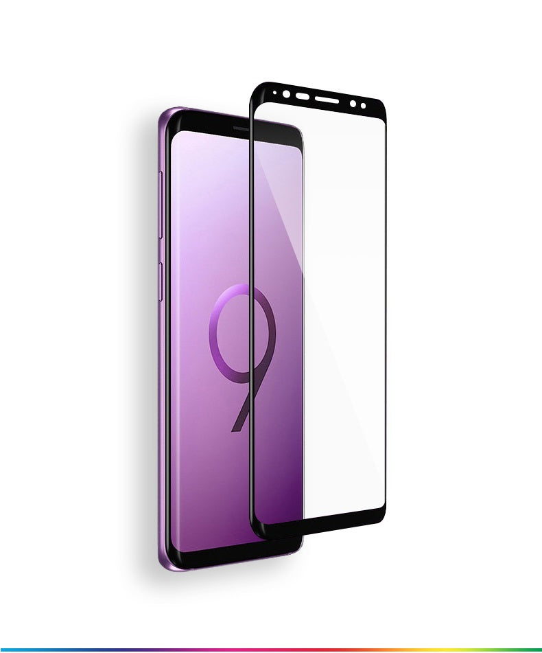 3D Curved Tempered Glass Screen Protector for Galaxy S9 or S9 Plus