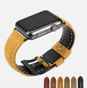 Vintage Genuine Leather Apple Watch Band