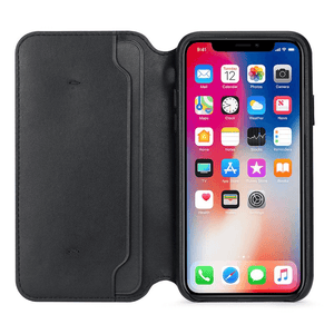 Leather Flip Case for iPhone X