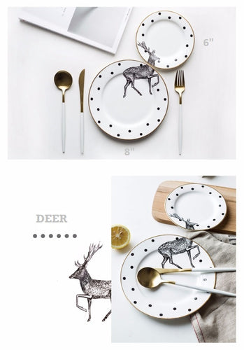 Stylish Deer Plate Set (2pcs)