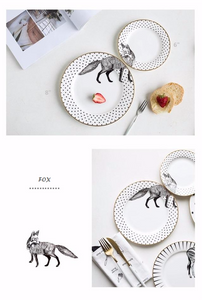 Stylish Fox Plate Set (2pcs)