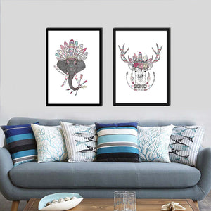 Deer Indian Style Canvas Painting