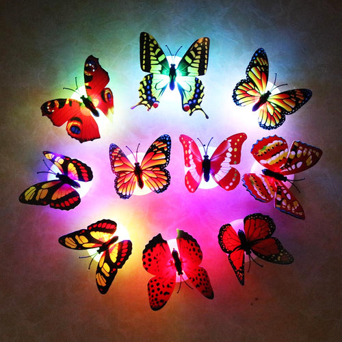 Realistic 3D Butterly Wall Night Lamp (10pcs)