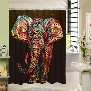 Elephant Mandala Shower Curtain