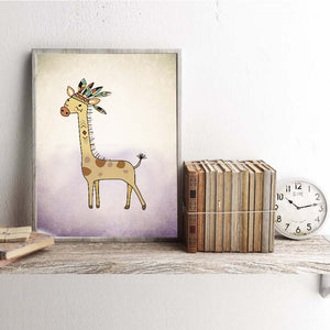 Giraffe Nordic Style Canvas Painting