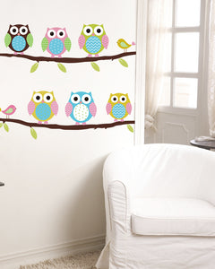 Cute Owl Wall Sticker