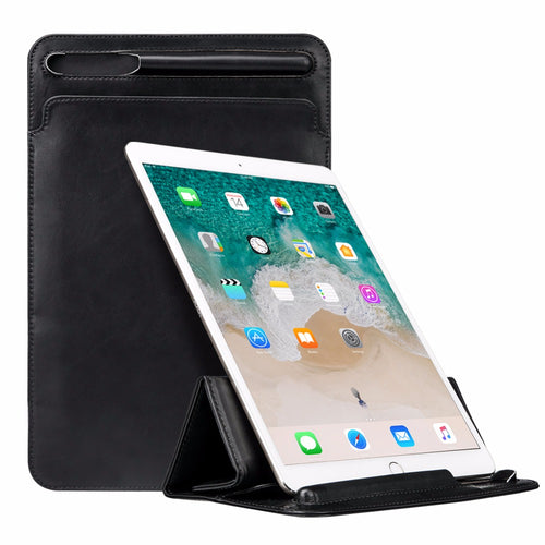 Leather Sleeve Stand Case for 12.9