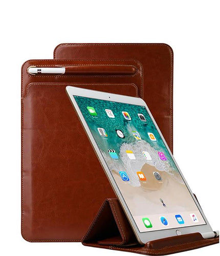 Leather Sleeve Stand Case for 10.5