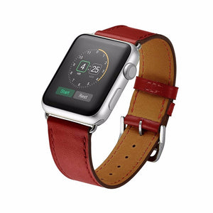 Fine Genuine Leather Apple Watch Band