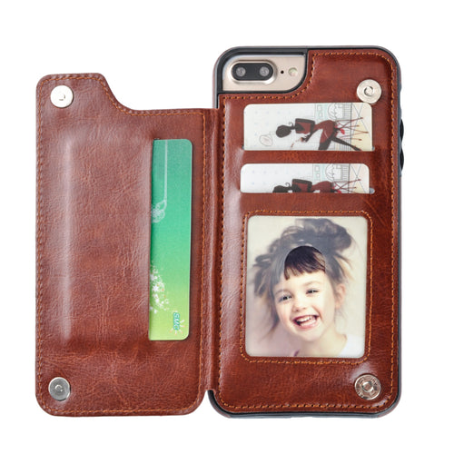 Leather Wallet Stand Case for iPhone