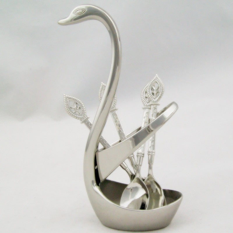 Silver Swan Teaspoon Set