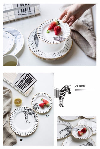 Stylish Zebra Plate Set (2pcs)
