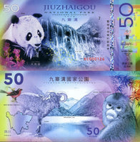 National Park Of The World - Jiuzhaigou National Park 50 Yuan 1978-2018 Polymer UNC