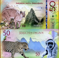 National Park Of The World - Parque Nacional Da Serra Dos Orgaos 50 Reais 1939-2018 Polymer