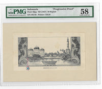 Indonesia 50 Rupiah 1957 Buaya Progressive Proof PMG 64 / 58