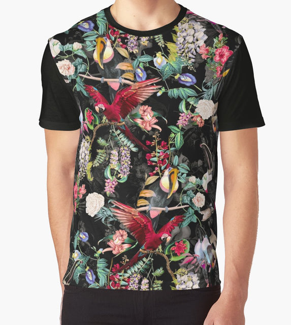 Floral and Birds IX T-Shirt