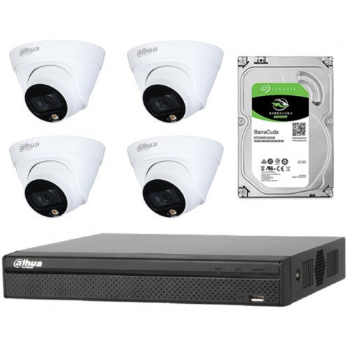 Dahua 4CH 2MP CCTV Surveillance POE Camera Kit